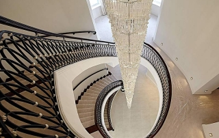 Luxury Contemporary Chandelier Grand Aqua Ovale