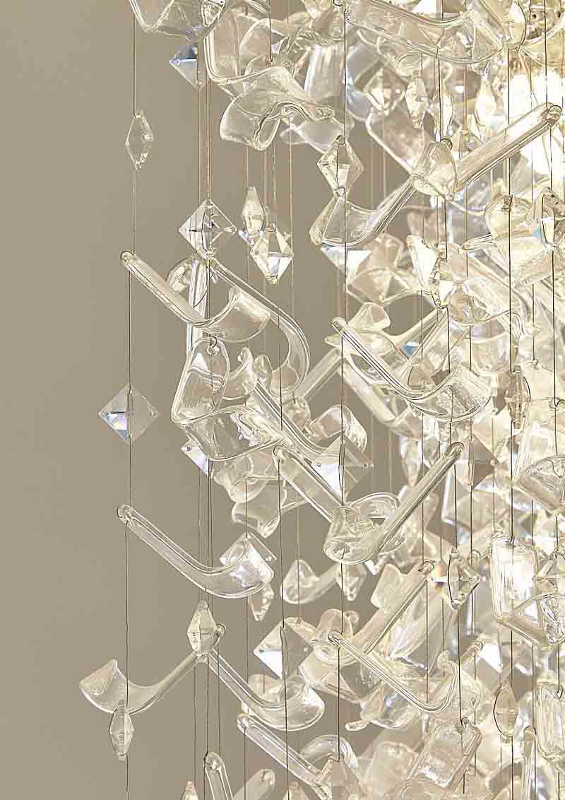 Sea Flowers Cascata Luxury Contemporary Chandelier